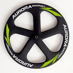 Aurora Racing EN Standard Road Tubular 4 Spoke-Disc Wheel Series Lightweight for Road 700c Bicycle Wheel (5s Road Front Wheels+Disc Road Rear Wheels)