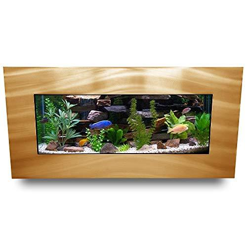Aussie Aquarium 2.0 Wall Mounted Aquarium, Brushed Gold