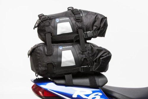 Autokicker® Loader 30L & 15L Set Tail Roll Top and Saddle Bag System For Motorbikes & Motorcycles