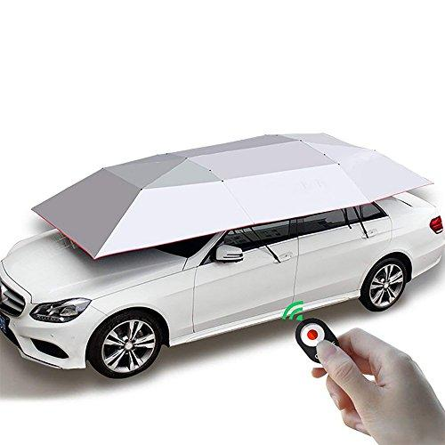 Automatic Car Umbrella, Carport Automatic Car Tent Sun Shade Canopy Folded Portable Car Umbrella With Remote Control