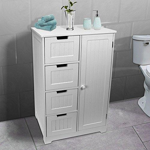 AVC Designs Bathroom Bedroom Nursery Storage Cabinet Dresser 4-Drawer + Door Cupboard