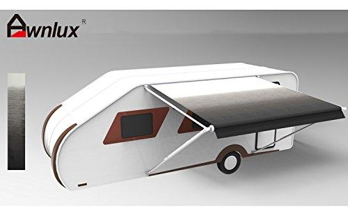 Awnlux Universal Replacement Fabric for RV Trailer Canopy awning (Fabric size 13Feet 2 Inch), Black Fade Color