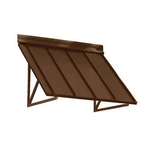 Awntech 5-Feet Houstonian Metal Standing Seam Awning, 24 by 24-Inch, Copper