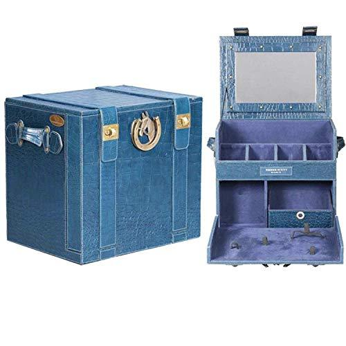 Azul Portable Bar In Blue Croco Leather