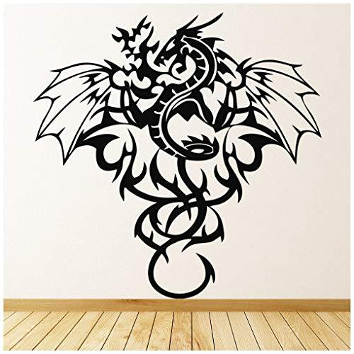 azutura Tribal Dragon Wall Sticker Winged Monster Wall Decal Boys Bedroom Home Decor available in 5 Sizes and 25 Colours X-Large White