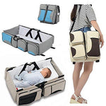 Baby Bassinet Portable Travel Crib Diaper Bag Changing Station with Mat Foldable Bed Multi-functional Carry Cot for 0-12 Months