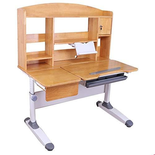 Baby Booster Seat Children's Study Desk Chair Table Set Tiltable Table And Chair For Kids Art Wooden Table Set Work Station Height Adjustable Dinning Chair Girl Boy (Color : Wood, Size : One size)