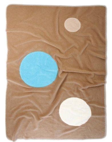 Baby Boum 100 x 150 cm Large Super Soft Appliqued Warm Polar Fleece Blanket (Cacao Brown)