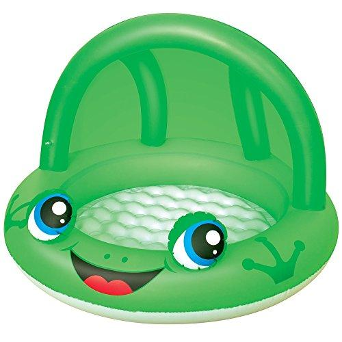 Baby Pool with Canopy - Green Frog (Inflatable sun shade)