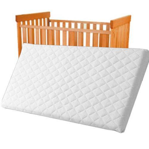 Baby Toddler Cot Bed Breathable Quilted Foam Mattress 110 x 54 x 13 cm