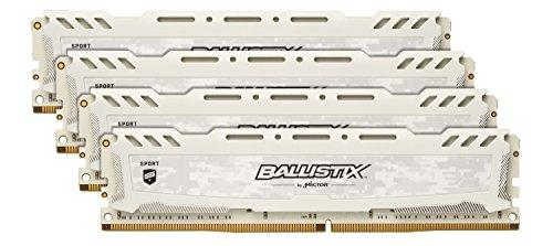 Ballistix BLS4K16G4D240FSC 64 GB Kit (16 GB x 4) DDR4 2400 MT/s (PC4-19200) CL16 DR x 8 Unbuffered DIMM 288-Pin Memory