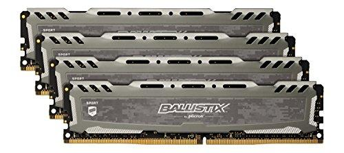 Ballistix BLS4K8G4D26BFSBK 32 GB Kit (8 GB x 4) DDR4 2666 MT/s (PC4-21300) CL16 SR x 8 Unbuffered DIMM 288-Pin Memory