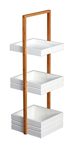 Bambus 3 Tier Bathroom Free Standing Shower Caddy Tidy Organiser Shelves