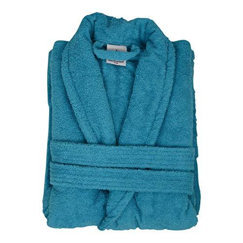 Bang Tidy Clothing Women's Personalised Bathrobes Luxury Dressing Gowns Gifts - Surf Blue - Large/X Large