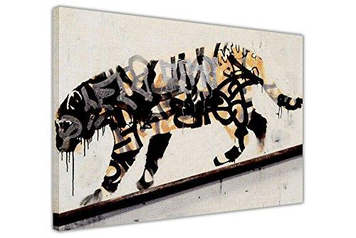 BANKSY TIGER SPRAY CANVAS PRINTS WALL ART PICTURES ROOM DECORATION