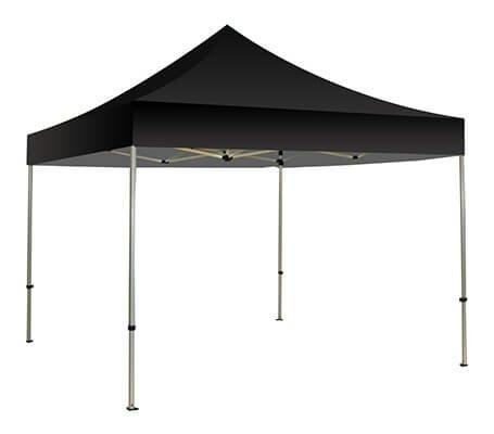 Bannerbuzz Pop Up Canopy Tent, Portable Blank Canopy Shade for Indoor or Outdoor Use, Instant Folding Gazebo Canopies (10' x 10', Black)