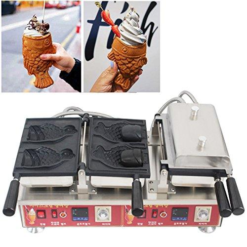 BAOSHISHAN Digital Temperature Control Open Mouth Taiyaki Maker Taiyaki Baker for Making Ice Cream Taiyaki (220V)
