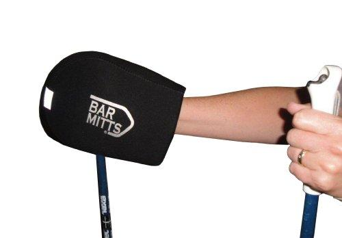Bar Mitts X-Country/Snowshoe Ski Pole Mitts, Black, One Size