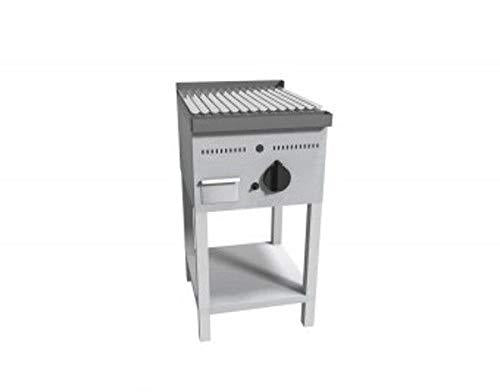 Barbecue grill with lava stone on day compartment - Dim. 45 x 55 x 85 cm