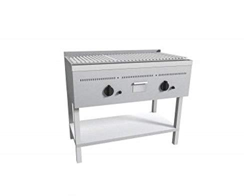 Barbecue grill with lava stone on day compartment - Dim. cm 100x55x85h