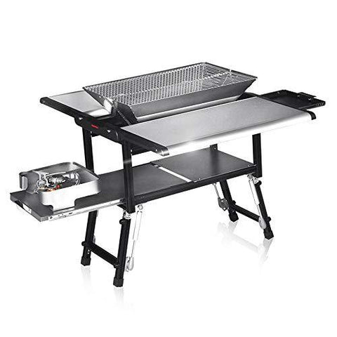 Barbecue shelf Charcoal Grill Rack Foldable BBQ Grill 5-7 People Use Outdoor GW