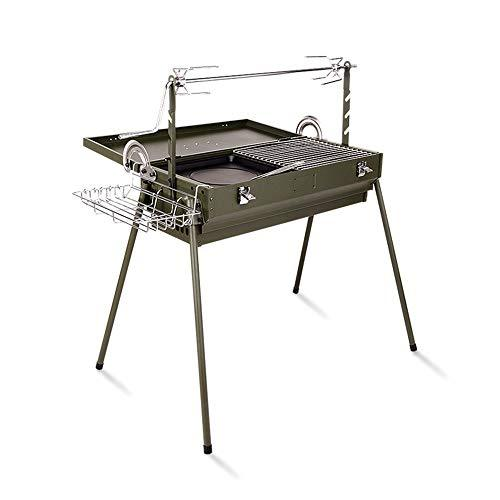 Barbecue shelf Large BBQ Grill Portable Charcoal Grill Rack Outdoor Multifunction GW