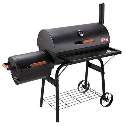 Barbecues,Wood Burning Barbecues,Wood Pellet Barbecues,Garden smoke oven, home outdoor garden villa charcoal grill(Double oven with thermometer)
