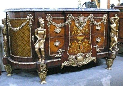 baroque chest of drawers big sideboard antique style louis pre victorian MoKm0038