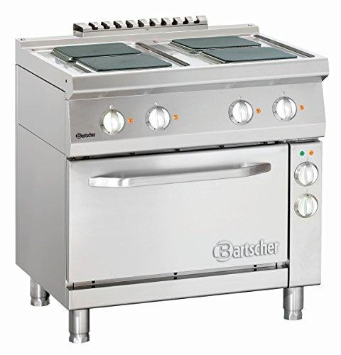 Bartscher - Electric stove, 4 hot-plates with rectangular hot-plates