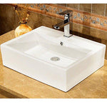 Basin Sink Bathroom Ceramic Square Cloakroom Contemporary Counter Top / Wall Hung Mounted Toilet Side Bowl