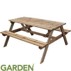 Tremendous Batam Pressure Treated Wooden Picnic Bench Picnic Table Spiritservingveterans Wood Chair Design Ideas Spiritservingveteransorg