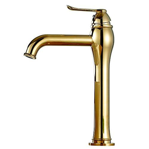 Bathroom Basin Wash Sink Monoblock Mono Tap Mixer Gold Sanlingo TULL Series