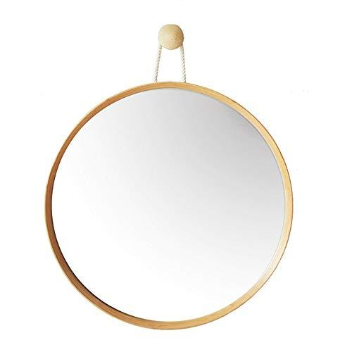 BATHROOM MIRROR HOME Wall-Mounted Bathroom Mirror/Bamboo/Dressing Table Makeup Mirror Square Hanging Mirror