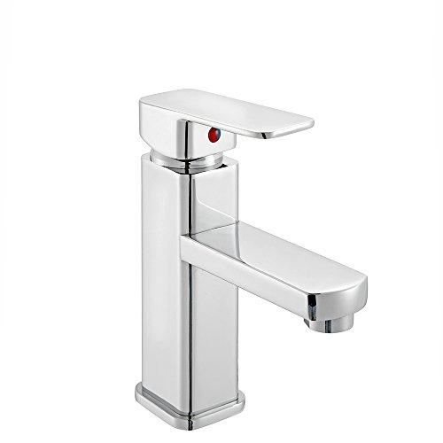 Bathroom Sink Taps Modern Chrome Waterfall Bathroom Basin Sink Mixer Tap Bath Filler Shower Tap LT-6210