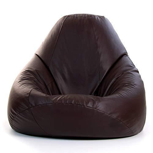 Bean Bag Bazaar Maximus - Oversized Faux Leather Recliner Chair - Giant BeanBags