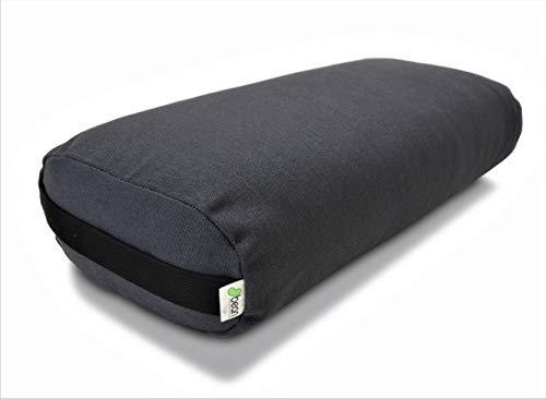 Bean Products Yoga Bolster - Hemp Rectangle - Shadow Gray