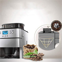 Bean to Cup Coffee Machine Filter Coffee Maker with Grinder|Anti-Drip 1.5l Stainless Steel Pot |1000w|Stainless Steel with Blue Led Display Panel