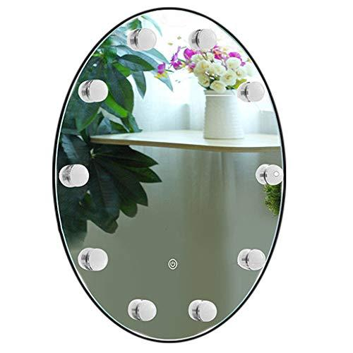 Beautify Hollywood Vanity Mirror With Led Bulbs,Touch Large Round Dressing Table Mirror With Dimming LED Bulbs, Wall-Mounted Vanity Mirror