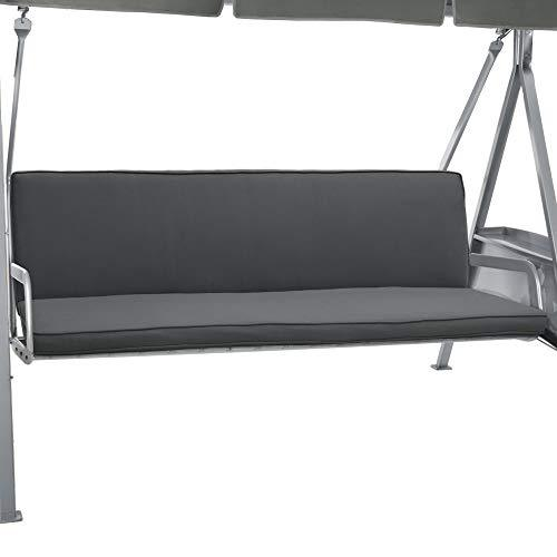 Beautissu 2 Set Bench Cushion Loft HS For Canopy Swing Seat 180 x 50 x 6cm 3 Seat Hammock Cushion Foam Pannel Anthracite