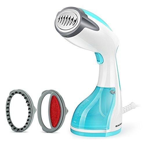 BEAUTURAL Clothes Steamer Handheld Garment Steamer portable 1200W for Home and Travel, Vertically & Horizontally Steam, 30s Fast Heat-up, Auto-Off, 100% Safe, 260ml High Capacity Water Tank, Blue