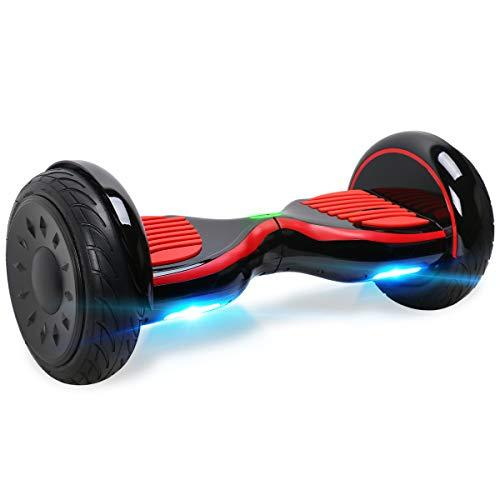 "BEBK 10"" Hoverboard, Two Wheels Self Balance Scooter with Built-in Bluetooth Speakers and LED"