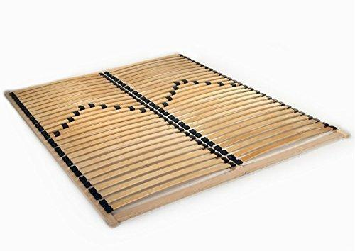 Bed Frame 120/140/160/180/200 x 200 Slatted Base 56 Slats Solid Beech Wooden (120 x 200 cm)