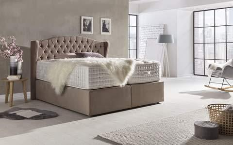 Bed-Haskins Majesty V Box Spring Bed - 200 x 200 cm - White
