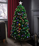 bedding bank Christmas Tree 60cms Fibre Optic Indoor Christmas Tree Pre Lit Decorated Tree -T824V-12