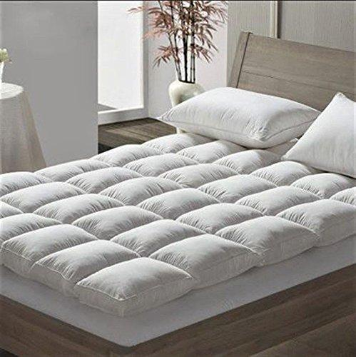 BeddingHome Luxury Duck Feather & Dawn Box Stitched Quilted Mattress Topper/Enhancer, Pillow (Super King)