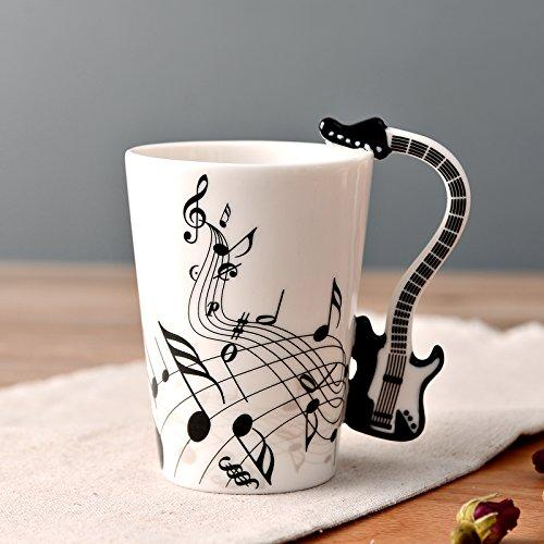 Beddingleer Handmade Music Cup Mug Enamel Cup Ceramic Coffee Cups- In Gift Box Best Gift (Style05)