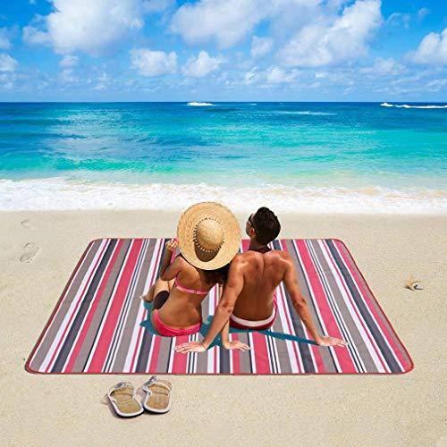 BEDLININGS Picnic Blanket Waterproof, Extra Large Outdoor Beach Mat Groundsheet Tent Tarp Picnic Rug for Camping Hiking,A,195 * 200cm
