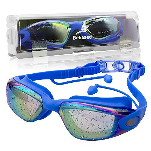 BeEased Swim Goggles Anti Fog SAFE UV optical protection NO Leaking NO Latex NO PVC material PERFECT clear view while HEALTHY swimming for Adult Women Men Youth Children Kids Family Triathlon Athletes
