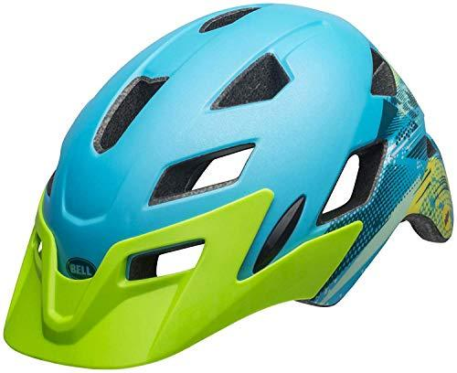 BELL Sidetrack Youth MTB Helmet - Bright Green/Sky Blue, 50-57cm / Mountain Biking Bike Riding Ride Cycling Cycle Children Child Kid Junior Head Skull Protection Protector Protect Head Safety Safe