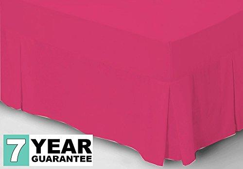 Belledorm Pink Fitted Valance, 200 Thread Count Percale (Double, Fuchsia) Covers Mattress & Divan Base